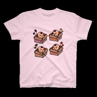 aki_の無愛想Baby 段ボールver T-shirts