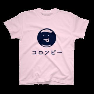 colon-pのコロンピさんTシャツ2016夏ブルーロゴ Tシャツ