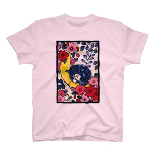 青猫花猫〜桜藤〜 T-shirts