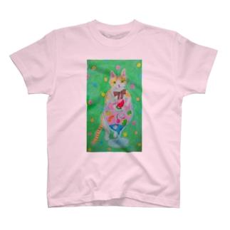 ネコとフルーツソーダ T-Shirt