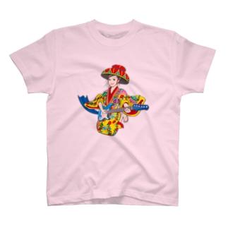 琉球ROCK(琉球衣装女子) T-shirts