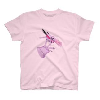 刺す   止める T-shirts