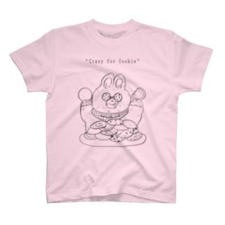 crazy/rabbit(black) T-shirts