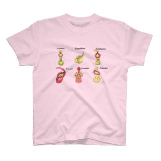 食虫植物 Nepenthesシリーズ 6品種 T-shirts