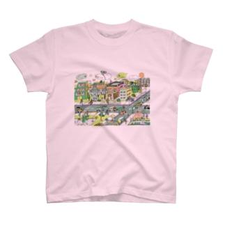 ポッピーな街 T-shirts