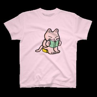 mikepunchの勤勉にゃんこ Tシャツ