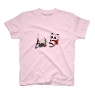 旅するパンダ Tシャツ T-shirts