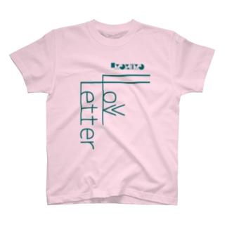 -LoveLetter-    A-BlueGreen T-shirts