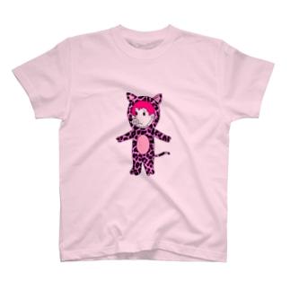 ピンクヒョウピッグレディ T-shirts