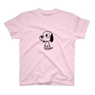 横向きワンコ T-shirts