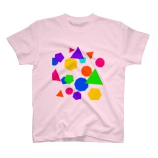 カラフル図形 T-shirts