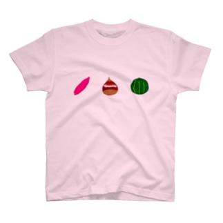 いも栗カボチャTシャツ T-shirts