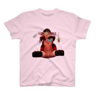 SADGIRLSCLUB 拘束 少女 T-shirts