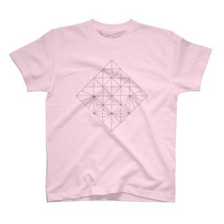 展開図Tシャツ(猪) T-shirts