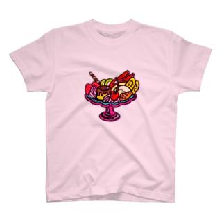 ご機嫌プリンアラモード T-shirts