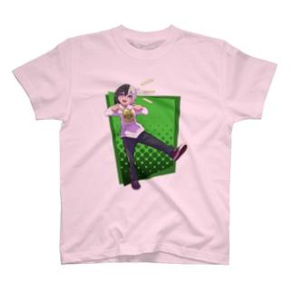 ツートンちゃん(緑背景) T-shirts
