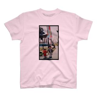 赤ちゃんおてて 黒枠 T-shirts