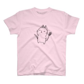 放心デグー(黒) T-shirts