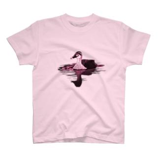 アキヅキのカルガモ(ピンク) T-Shirt