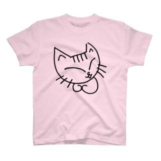 しろねこのミケコ。 T-shirts