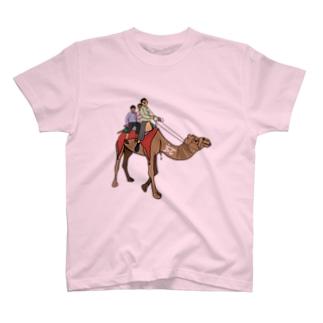 ヒンディー語 ラクダ ウーント インド India T-shirts