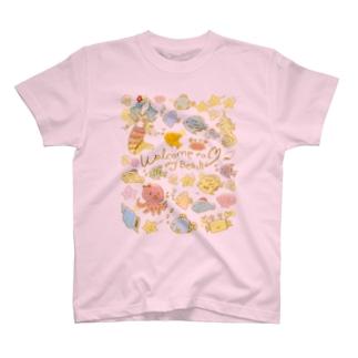 うみのなかまたちマーメイド T-shirts
