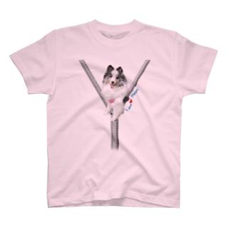 ジップデザインマァティ君 T-shirts