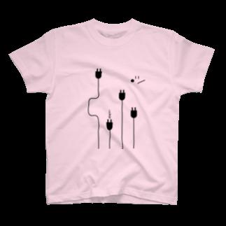 YASUKOのplug in ! (No.3) T-shirts