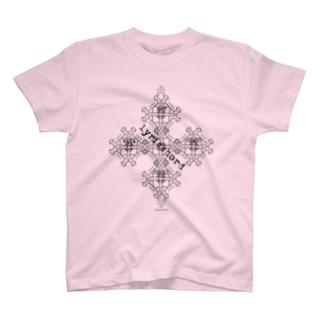 lyricchordスター黒ライン/ドローイングアート T-shirts