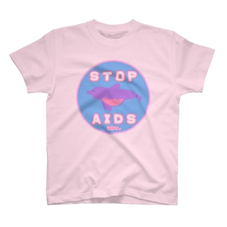 Condom Dolphin【STOP AIDS】 T-shirts