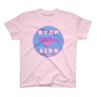 YMT.のCondom Dolphin【STOP AIDS】 T-shirts