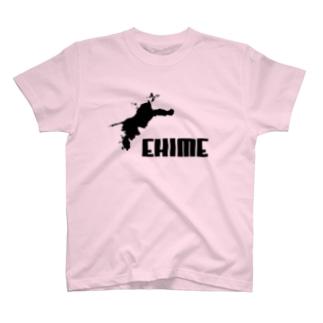 EHIME-T Black T-shirts