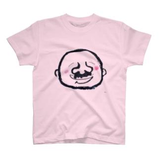 髭のオッチャン T-shirts