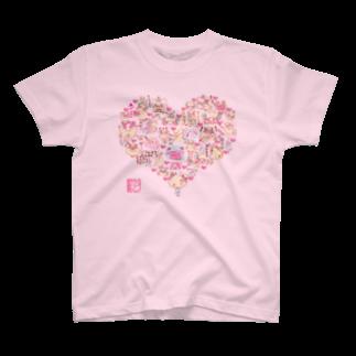 レイカーベル@LINEスタンプ販売中のもふっとメリー♪ラブリーTシャツ T-shirts