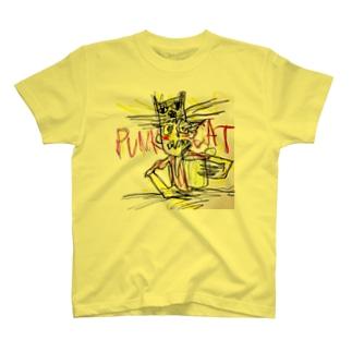 猫かぶり PUNK CAT Tシャツ