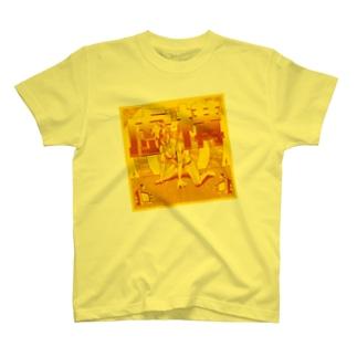 虚構 イエロー Tシャツ