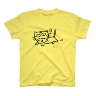 ましねこ!|お魚 de ゴキゲン☆(ブランク) Tシャツ