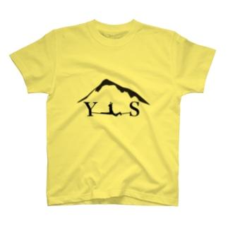 YSスプレッド-ブラック Tシャツ