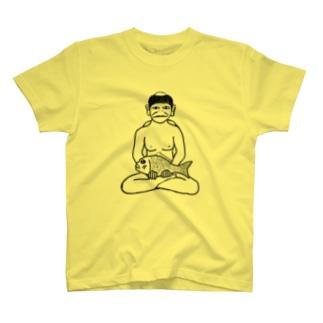鯛を持った河童 Tシャツ