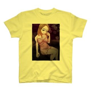 キャバクラ嬢【カラー】 Tシャツ