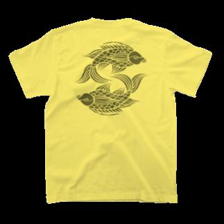 ツバメ堂の壷屋焼風双魚文 T-shirts