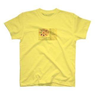 12星座と十芒星(八芒星:オクタグラム+強さ、弱さ) リブラの章アイコン付き T-shirts