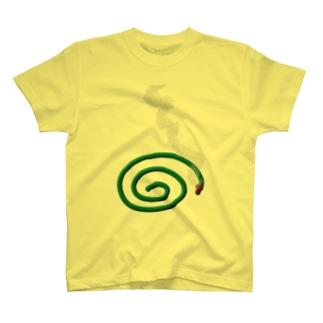 夏だ。蚊取り線香 T-Shirt