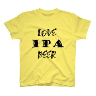 love IPA beer [Black] T-shirts