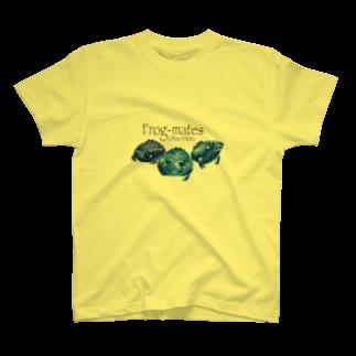 引田玲雄 / Reo Hikitaのカエルメイト(Frog-mates)より「ブルベリガエル」のグッズ T-shirts