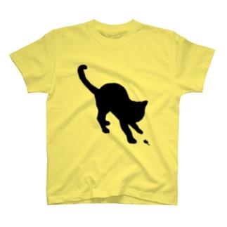 猫 シルエット T-shirts