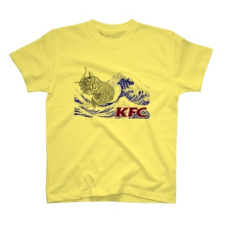 KFC_青波_紫字_白抜き T-shirts