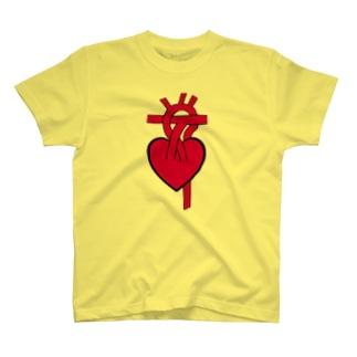 ハート(心臓)と動脈 T-shirts