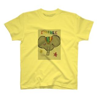 フリーなパオーン T-shirts