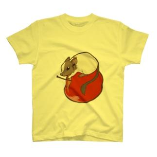 リンゴ×デグー T-shirts